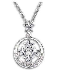 Silversmiths Stars Glory Necklace with Clear Rhinestones