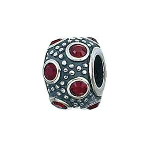 Silver January Crystal Ball Bead / Charm Finejewelers Jewelry