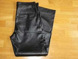 Womens Donald J Pliner Black Leather Pants Size 34