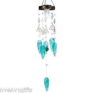 SERENDIPITY SOLAR CHIME LIGHTED WIND CHIMES PATIO GARDEN DECOR NVD1147