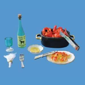 Seven Piece Crab Pot Dinner by Reutter Porzellan: Toys & Games