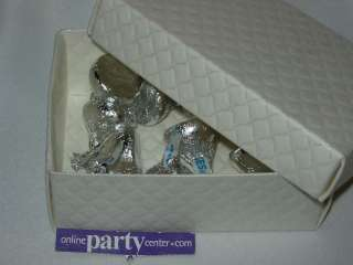 FAVOR BOX WEDDING CHRISTENING COMMUNION IVORY QUILTED
