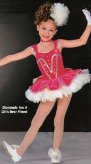 DIAMONDS ARE A GIRLS BEST FRIEND Dance Costume Child L