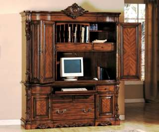 Cherry Brown Solid Wood Executive Desk Office Furniture
