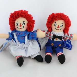 Raggedy Ann & Andy Beanbag Plush Stuffed Doll 18cm 7