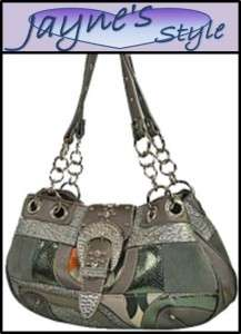 NEW Designer Inspired Handbag RHINESTONE Buckle Purse