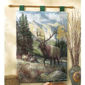 Big Game Elk Tapestry Wall Hanging Kitchen & Dining