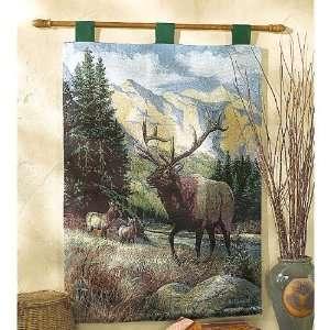 Big Game Elk Tapestry Wall Hanging
