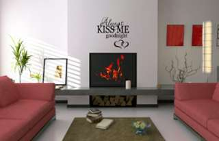 ALWAYS KISS ME GOODNIGHT QUOTE VINYL WALL DECAL STICKER 894708001137
