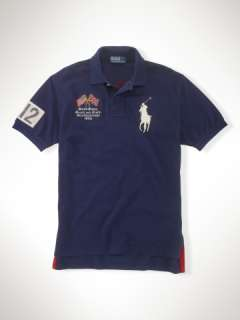 Classic Crossed Flags Big Pony   Classic Fit Polos   RalphLauren