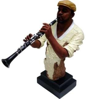 18 Jazz Musician Statue Clairnet Player Collezione di Tesoro