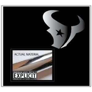 Houston Texans Large Chrome Vinyl Decal