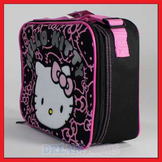 Hello Kitty Black Glitter Lunch Bag   Box Case Kids School