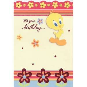 Greeting Card Birthday Looney Tunes Tweety Bird Its Your