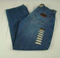 Mens Western Wrangler Retro Slim Boot Cut Premium Patch Jeans NWT 33 x
