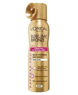 Oréal Paris Sublime Bronze Express Pro Spray for Fair Skin 150ml