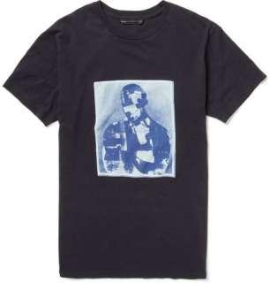 Clothing  T shirts  Crew necks  Portrait Print Cotton T shirt