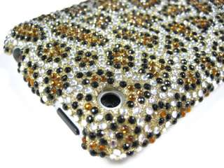 CHEETAH GOLD DIAMOND BLING CRYSTAL FACEPLATE CASE COVER APPLE iPHONE