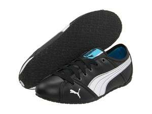 PUMA Style Cat BLACK White Fashion Sneakers Flats Shoes Womens Leather