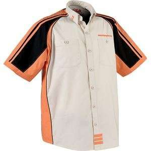Moose Racing Pit Shirt   Large/Sand/Orange/Black
