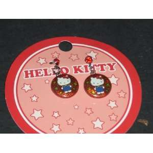 Red Hello Kitty Button Earrings Toys & Games