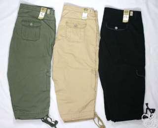 Levis Jeans Plus Size Capitola Cargo Black / Chino (Khaki) Capri Pants