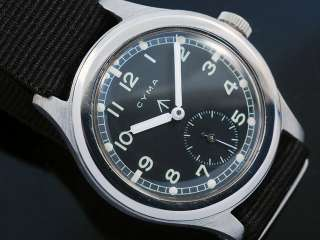 Cyma Military WWW Sub Second Vintage Watch |