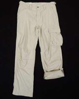NWT $145 Polo Ralph Lauren Mens Tan Roll up Cargo Pants