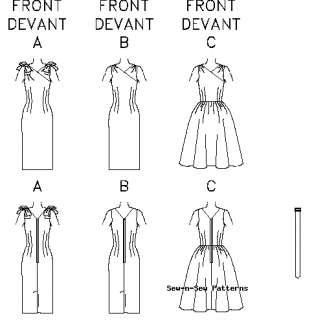 Vintage Wiggle/Sheath Dress PATTERN Butterick 50s 60s