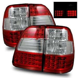 98 05 Toyota Land Cruiser LED Tail Lights   Red Crystal Automotive