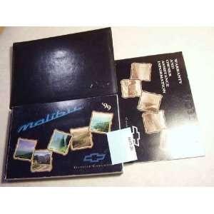 1999 Chevy Chevrolet Malibu Owners Manual Chevrolet motors Books
