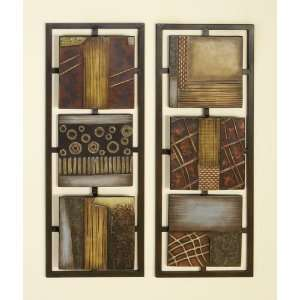 Two Piece Panel Abstract Metal Wall Art Room Office: Home