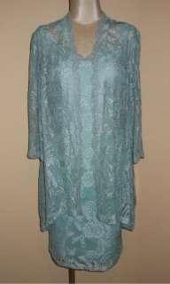 NWT Karen Miller Aqua Lace Cocktail Dress Jacket Mother of Bride or