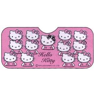Hello Kitty Sanrio Pink Bow Car Front Windshield Auto Accordion Style