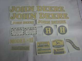 John Deere H 1939 & Up Decal Set   Vinyl Cut