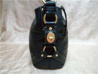 COACH SOFT BLACK LEATHER CARLY SHOULDERBAG 10615