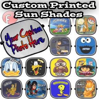 Personalised Custom Children Car Sun Shades Screen   full colour   x 1