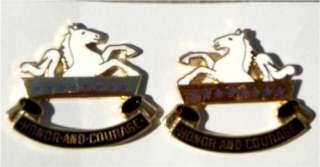 US Army 8th Calvary DI Unit insignia pin set |