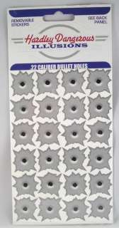 Bullet Hole Illusions Stickers Decals .22 Caliber