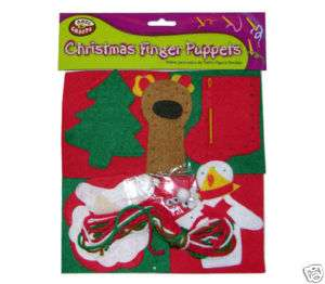 Christmas Finger Puppets Craft Kit Set for Kids Winter Craft 3+