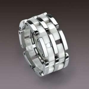 TUNGSTEN CARBIDE RING WHITE HIGH TECH CERAMIC RMB TYPE