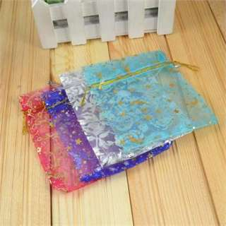 Wholesale Lot 100pcs Mixed Color Wedding Silk Gift Jewelry Bag 2