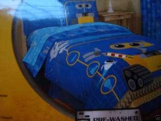 New DISNEY PIXAR Wall E Blue/Yellow Twin Sheet set 3pc