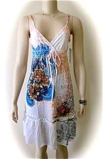 OCEAN BREEZE LOTUS FLOWER Tattoo Print Dress Large