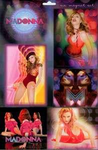 MADONNA 1980s POP STAR Queen Of Pop 6 Pc MAGNET SET New