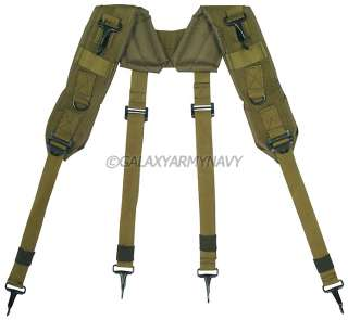 Military Army Olive Drab Tactical H Type LC 1 Load Bearing Suspenders