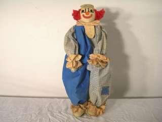 Antique Child Clown Doll Handmade Art Americana OOAK Vtg Clothes Pins