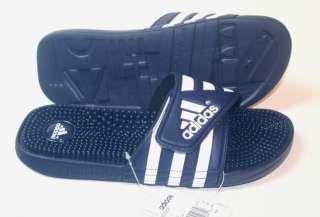 Adidas Mens Adissage Navy Blue White 7 8 9 10 11 12 13
