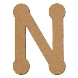 Design Craft MIllworks 8 In. MDF Bubble Letter (N) 47265 at The Home