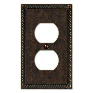 Creative Accents Tuscan Antique Bronze 1 Duplex Outlet Decorative Wall